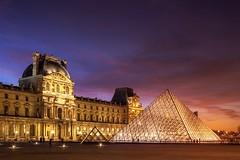 Muse du Louvre (photoserge.com) Tags: louvre muse sunset colors travel architecture cityscape