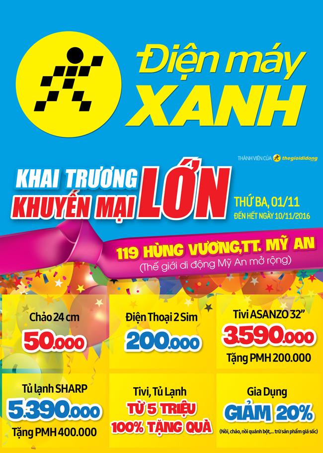Khai trương siêu thị Điện máy XANH Mỹ An, Đồng Tháp
