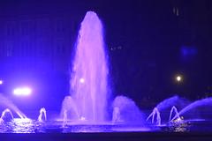 University of Washington (stinkaholic) Tags: fountain water lighting purple uw drumheller washington university