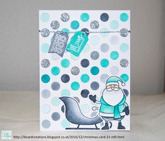 Christmas cards 2016 #21 | MFT (Lisa/B) Tags: mftstamps mftdienamics merryeverything christmas santa teal tags winter glitter nuvo copic coloring mamaelephant creative handmade crafty cardmaking lbcardcreations embossing