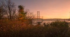(s1msn) Tags: forth replacement crossing road bridge river north queensferry south maid hawes smugglers railbridge canon 5dmk3 1224 sunset winter