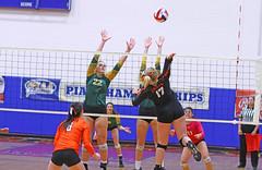 IMG_6880 (SJH Foto) Tags: girls volleyball high school allentown central catholic somerset team teen teenager net battle spike block action shot jump midair