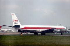 N791TW Boeing 707-331C TWA Trans World Airlines Cargojet (pslg05896) Tags: n791tw boeing707 twa transworldairlines lhr egll london heathrow