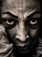 Beyond the mind (Bruno Frerejean (Bruno Mallorca)) Tags: portrait blackwhite sepia monochrome woman face visage beauty love innerpeace spirituality spiritualité espiritualidad regard trust intime intimistpicture intimidad eckharttolle sigma50mmf14art