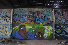 Kanet, Over, Spar, Chef, Chopla, Gob (NJphotograffer) Tags: graffiti graff new jersey nj newark abandoned building urban explore shortys diy skatepark kanet over r2b crew spar chef chopla 2wcrew 2w gob