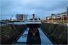 The Nomadic (EoinGardiner) Tags: titanic quarter ireland belfast nomadic cherbourg northernireland ship harbour harbor blue hour bluehour museum evening ocean liner tender