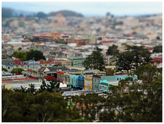 """""""Streetfront"""" - San Franciso, California (TravelsWithDan) Tags: sanfrancisco california usa tiltshift streetfront victorian fromabove canong16 city urban cityscape"""