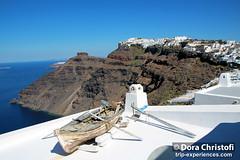 Fira Santorini Boat