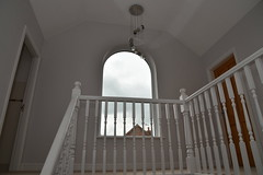 UPVC White Picture Window - Interior from Stairs (Stormcladhomeimprovements) Tags: picturewindow whitepicturewindow upstairslanding bannister whitebannister staircasebannister