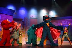 Super Grover returns! 320/366 (jenniferdudley) Tags: 15nov16 day320366 366the2016edition 3662016 supergrover sesamestreet elmo