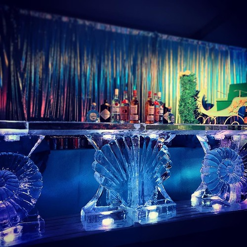 Close up of our under the sea #icebar last night @mcnayart with @wilkinsonrhodes #fullspectrumice #sanantonio #thinkoutsidetheblocks #brrriliant - Full Spectrum Ice Sculpture