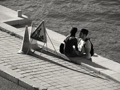 Travaux ou amour en cours... Work or love in progress... (alainpere407) Tags: alainpere parisnoiretblanc streetsofparis candidpictureinparis romanticparis paris parisborddeseine parisinsolite parisromantique flicktravelaward