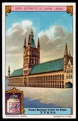 Liebig Tradecard S1170 - Cloth Hall, Ypres (cigcardpix) Tags: tradecards advertising ephemera vintage liebig architecture