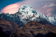 Sunrise over the Annapurna Mountain Range, Annapurna Region, Nepal (CamelKW) Tags: nepal sunrise annapurnamountainrange annapurnaregion annapurna himalayas trekking