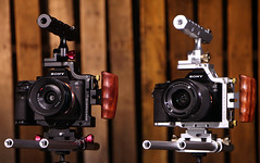 Sony Sharkcages (FotodioxPro) Tags: sonya7cage cageforsonya7 cagesystem metalcage 15mmrails videorig sonya7sharkcage fotodiox productphotography woodbackground metalcameracage cameracage tophandle sonycameracage sonycamerarig rebelt4i sonya7 sonya7rii