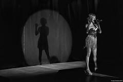 The Singer #1 (LilFr38) Tags: lilfr38 canoneos5dmarkii canonef1740mmf4lusm blackwhite noirblanc vizille isre france singer scene shadow light chanteuse scne ombre lumire singerpurebathingculture