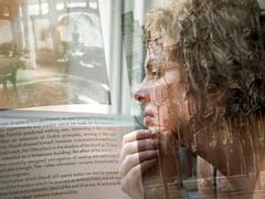 A Love of Reading V (Blues Views) Tags: multipleexposure doubleexposure dreamer dreamlike digitalart reading book text doubleexposureseries lovebooks olympusep3 pen penep3 overlays layers