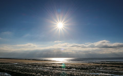 Sunny South Wales (Andy.Gocher) Tags: andygocher canon100d canon 1855mm kit lens europe uk wales southwales dunravenbay treathmawr beach sun clouds cloudsstormssunsetssunrises flare