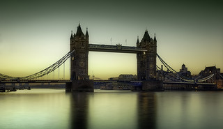Tower Bridge,before dawn.