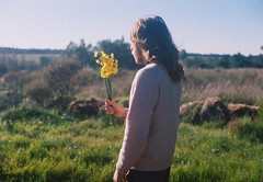 Mornings in the countryside. (Hijo de la Tierra.) Tags: film analog 35mm daffodils longhair boy portrait life countryside uruguay autumn fall nature flowers bouquet