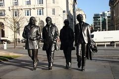 A Statue of the Beatles on Liverpools Pier Head . (philippe.Onwire) Tags: waterfront pierhead juliabaird thebeatles beatles liverpool johnlennon mayorcllrannobyrne bronze thecavernclub liverpoolempire andrewedwards dezohoffmann onairthebeatlesliveatthebbcvol2 paulmccartney georgeharrison ringostarr petebest stuartsutcliffe