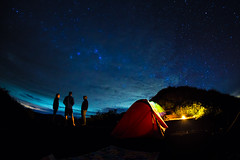 Starry Night on Rinjani Crater Rim