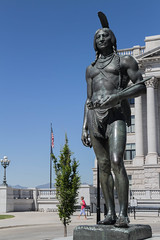 Indian Statue (hunter47d) Tags: utah nationalpark ut tour capitol saltlakecity rebelxs canoneosm