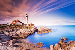 SIM-750289 (SalvadoriArte) Tags: ocean sea lighthouse horizontal america daylight day maine newengland nobody atlanticocean sime capeelizabeth canali northamericausa traveldestination unitedstatesusa coastcoastline outdoorexterior