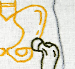 Human Femur Anatomy Hoop Art. Hand Embroidered by Hey Paul Studios. (Hey Paul Studios) Tags: skeleton legs anatomy bones nurse hip etsy femur bodypart homedecor needlecraft orthopedics doctoroffice hipreplacement kcetsyteam anatomyart embroiderywallart uniquewalldecor medicalanatomicalart