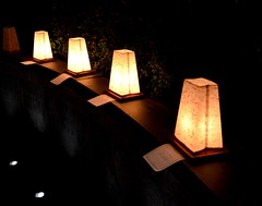 Luminaria Installation at the RI World War II Monument