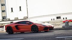 Lamborghini Aventador LP700-4 (2) ([Mixtography]) Tags: street door city orange 3 black vent cool italian downtown awesome fast poland polska spot warsaw rims lamborghini loud supercar speeding spotting warszawa lambo plac krzyzy trzech krzyy aventador czarnocki mixtography