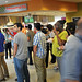 The crowd waits patiently to sample the food at On The Oval, University Dining's newest hot spot for meals on Centennial Campus.