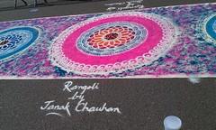 Rangoli (janakchauhan) Tags: streetart rangoli indianart janak leicesterbelgravemela
