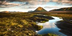 Mountainback (Kristinn R.) Tags: flowers sky mountains water grass clouds river iceland moss nikon mlifell fjallabak d3x nikonphotography kristinnr