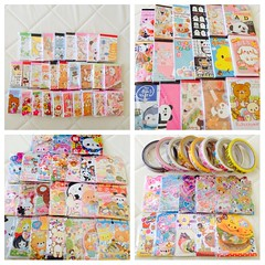 september kawaii haul! (JU671NE) Tags: cute paper stickers sanrio kawaii stationery crux qlia fortissimo rilakkuma sanx kamio mindwave poolcool cramcream decotape stickersacks stickerflakes chocopa