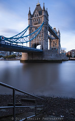 Steps to Tower Bridge. (Ollie Smalley Photography (OSP)) Tags: lighting old city longexposure blue portrait sky orange sunlight motion black london water yellow rock bulb contrast towerbridge canon reflections river eos evening movement raw cityscape tripod towers steps sunny landmark pebbles historic stairway iso motionblur filter le lee riverbed nd getty reflective 5d 100 lowtide 24mm manual railing iconic riverthames orientation tidal manualfocus hitech clearsky gettyimages bankside manfrotto cityoflondon eveninglight magiclantern slowexposure osp capitalcity 24105mm manualexposure canon24105mm 5d2 10stopfilter 5dii canon5dmarkii leebigstopper clouddrag olliesmalleyphotography