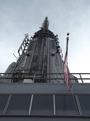 Top of Empire State Building, As Seen from Empire State Building Observation Deck, New York City (lensepix) Tags: newyorkcity aerialview empirestatebuilding observationdeck empirestatebuildingobservationdeck aerialviewmanhattan empirestatebuildingantenna
