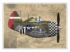 P-47 8th Air Force (blackheartart) Tags: art airplane republic aircraft aviation profile caricature thunderbolt p47 8thairforce 8thaf