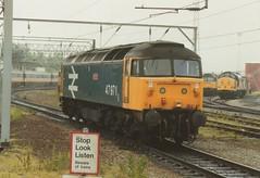 """BR Large Logo Blue Class 47/9, 47971 """"Robin Hood"""" (37190 """"Dalzell"""") Tags: br spoon crewe robinhood duff rtc class47 dieseldepot brush4 testtrain class474 47971 class479 railwaytechnicalcentre largelogoblue"""