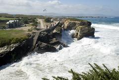 BARREIROS-PLAYA DE LAS CATEDRALES (LUGO-SPAIN) (ABUELA PINOCHO ) Tags: espaa paisajes mar spain playa galicia olas lugo rocas barreiro cantabrico acantilados playadelascatedrales playadelagua