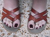 DSCF2336 (sandalman444) Tags: color male feet long sandals nail pedicure care toenails pedicured toerings mensfeet