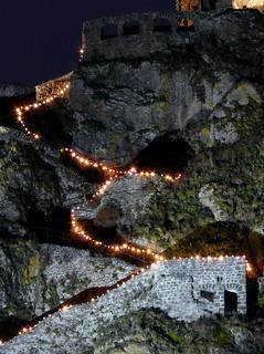 Aiguilhe (Le Puy-en-Velay) (43), illuminations 2008