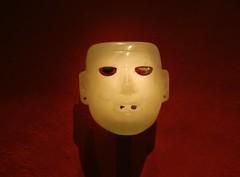 Tecalli Mask (Travis S.) Tags: white rock stone museum mexico mexicocity df mask opaque museo artifact templomayor distritofederal mixtec tecalli