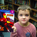 Matt finds a favorite in the Indian Lake Central School Library. Photo: George DeChant