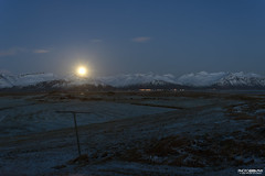'Moonrise' - Vatnajkull National Park, Iceland. (Glenn Radford GRP) Tags: longexposure autumn winter sky moon snow mountains cold color colour green ice beautiful night dar