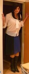 long skirt and pretty blouse (charlotteyorkscd) Tags: cute sexy tv pretty boots cd blueeyes makeup skirt blouse transvestite mascara lipstick brunette crossdresser eyeliner kneeboots longskirt pinklipstick whiteblouse transvestive kneelengthboots