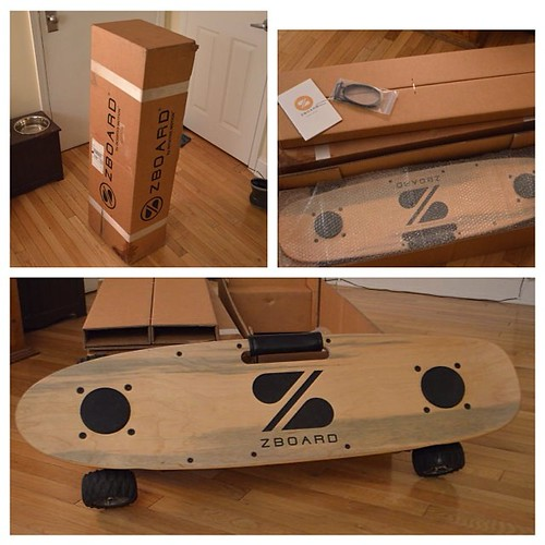 IT HAS ARRIVED! What an amazing gift. Thank you for contributing and making this possible. As soon as it stops raining, more pictures to come!   #nyc #zboard #crowdsourced #skateboard #EV #tech #commuter #travel #lesscabs #psyched #stoked #techtoys #techl