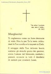 Lembrança Falecimento Marguerita Verso 1947