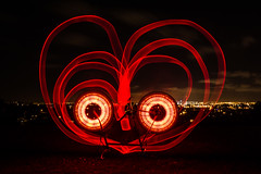 True Love (ibikenz) Tags: city red lightpainting bike bicycle night upsidedown reservoir auckland skytower healing denis forresthill bicyclecommuter rx100 monkeylectric m232 monkeylight sonycybershotdscrx100