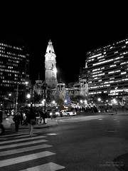 Day 352: The Holidays at Love Park (jeanne.beanie) Tags: blackandwhite philadelphia photography centercity cityhall streetphotography lovepark philly project365 challenge365